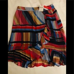 NWT Colorful Striped Skirt